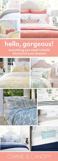 From chic bedding and beautiful statement duvet covers, find gorgeous bedding to build the bedroom of your dreams. Named the best site for bedding by HGTV. Farmhouse Master Bedroom, Bedroom Makeover, Sport Bedroom, Home Decor, Bedroom Inspirations, Bed, Chic Bedding, Interior Design Living Room, Master Bedroom Makeover