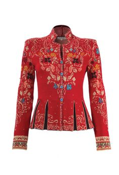 Jacquard Jacket with Pleats - Jacke | Ivko Woman