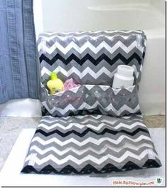 Bath Tub Mat..this would be a great accessory for cleaning the bath tub. It would give cushion for the knees and help organize your cleaning products.