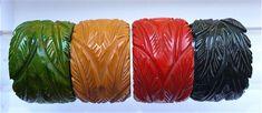 Carved Bracelets | Bakelite