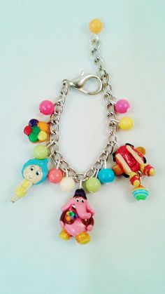 Inside out inspired charm bracelet Bing Bong joy by crystalnruby