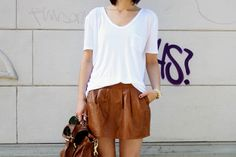 Topped with a plain white tee
