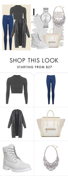 """""""Untitled #124"""" by tiinaa02 ❤ liked on Polyvore featuring Topshop, Miss Selfridge, CÉLINE, Timberland and Marc by Marc Jacobs"""