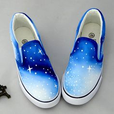 kawaii shoes cute ombre galaxy shoesSole Material: tendonClosed way: set of feetPattern: hand-paintedStyle: sweetUpper: CanvasPattern: hand-painted Painted Canvas Shoes, Custom Painted Shoes, Hand Painted Shoes, Painted Vans, Painted Sneakers, On Shoes, Me Too Shoes, Shoe Boots, Suede Shoes