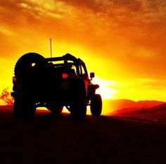 Jeep sunset-- I want to do this boo