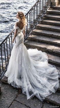lian rokman 2018 bridal short sleeves off the shoulder sweetheart neckline full embellishment romantic mermaid wedding dress chapel train (5) bv -- Lian Rokman 2018 Wedding Dresses