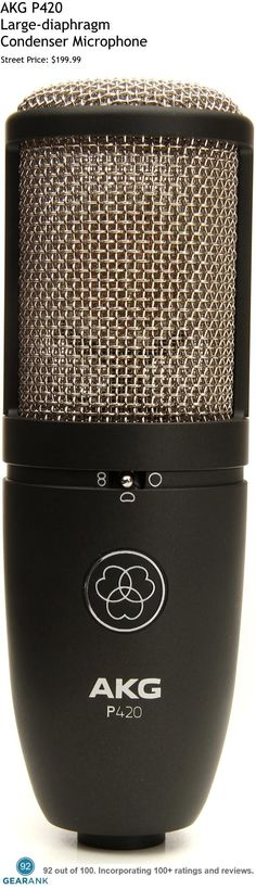 AKG P420 Large-diaphragm Condenser Microphone. This is one of the highest rated studio mics under $200.