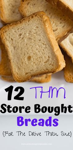 Trim Healthy Mama Diet, Trim Healthy Recipes, Low Carb Recipes, Whole Food Recipes, Thm Bread Recipe, Sprouted Bread Recipe, Multi Grain Bread, Pain Au Levain, How To Store Bread