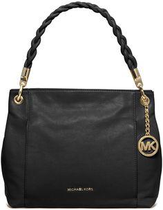 MICHAEL Michael Kors Naomi Large Twist-Strap Tote Bag, Black