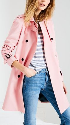 Pink trench for spring