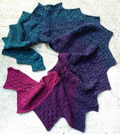 The Luckdragon Shawl is one of two patterns featured in my Rav group's annual mystery KAL. This year the KAL will run from Oct 1 through Dec 31 and, as always, will feature matching sock and shawl mystery designs. The patterns will be available for sale individually or together (If you buy them individually, you will not receive a discount/refund if you later want to purchase them together).