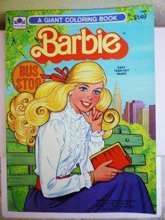 Vintage Barbie Coloring Book, 1983, UNUSED. $8.00, via Etsy.