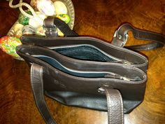 Zips. Logo , PRADA leather stunning bag