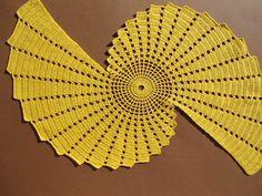 Crochet doily  / runner / table topper / yellow / napkin