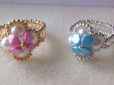 Anillos perlas y cuentas pinch- Pearls and pinch beads earrings