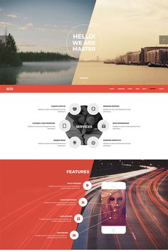 Master - Creative Agency Portfolio Website Template Big Screenshot