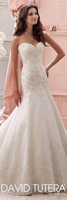 The David Tutera for Mon Cheri Spring 2015 Wedding Dress Collection - Style No. 115247 Chianna  davidtuteraformoncheri.com  #weddingdresses