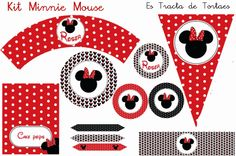 Kit de Fiesta Minni Mouse Minnie Mouse Birthday Decorations, Minnie Birthday, Minnie Y Mickey Mouse, Cake Banner, Happy Party, Disney Diy, Special Birthday, Mouse Parties, Party Themes