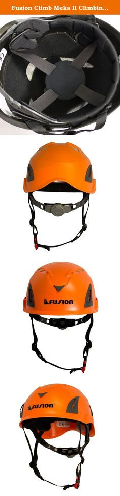 """Fusion Climb Meka II Climbing Bungee Zipline Mountain Construction Safety Protection Helmet Orange. Fusion Climb Meka II Climbing Bungee Zipline Mountain Construction Safety Protection Helmet Orange - Fusion """"Meka"""" helmet is a helmet for outdoor adventure sports such as rock climbing, mountaineering, and zip-lining. - Meka offers a wide range of adjustability and 10 areas for ventilation to keep the users head cool and comfortable during activities. - In-mold polycarbonate shell with an…"""
