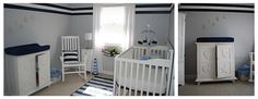 Real Nursery: A Blue and White Nautical Ship Room   Baby Lifestyles