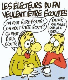 #écoute #charliehebdo #charb #satire #politique #élections #parodie #fn #rienàdire #caricature #société #changement