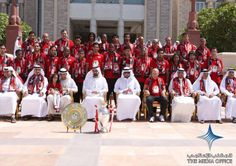 2009 UAE Vice President, Prime Minister and Ruler of Dubai His Highness Sheikh Mohammed bin Rashid Al Maktoum received the recent winners of the UAE League title, Al Ahli Football Club, at Za'abeel Palace today.