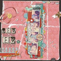 Another AMAZING take on January Challenge #3! How sweet to take on Daddy and his baby girl in this He/She layout - we love it Trish!