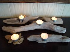Driftwood tea light holder