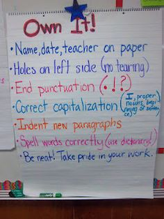 Procedure for papers (students generated list)