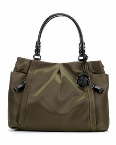 Cris Nylon Tote - Army/Black