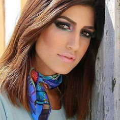 silk scarf neckscarf | von sens111d
