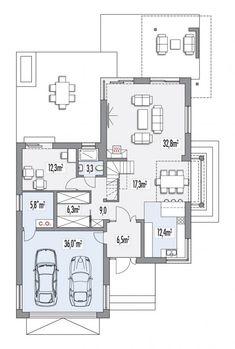 Rzut HR Carmen Magdalena lux CE Home Design Plans, Home Interior Design, Floor Plans, House Design, How To Plan, Subaru Forester, Home Decor, Homes, Ideas