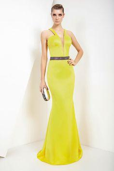Vestido longo Feche D'or