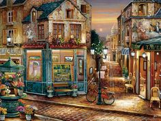 Street Scene Artwork Diy Digital Painting By Numbers Modern Wall Art Canvas Painting Acrylic Paint Unique Gift For Home Decor Oil Painting On Canvas, Diy Painting, Canvas Wall Art, Painting Gallery, Painting Corner, Diy Canvas, House Painting, Home Pictures, Wall Art Pictures