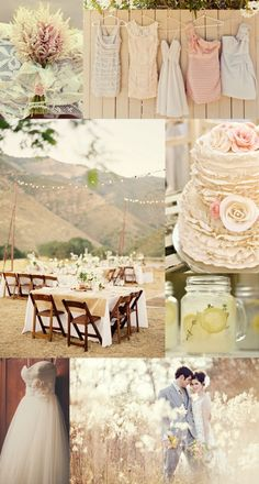 ...a rustic chic wedding. <3 the dresses and the cake LOVE THE cake!!!! <3