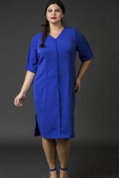 Exposed Seam Dress- Blue