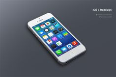 iOS 7 Redesign by Michael Boswell. Lovely iOS 7 Redesigns. #iOS7 #redesigns #mobile #ui #apple