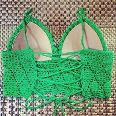 Crochet bathing suite, bikini top, inspiration only.