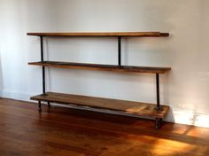 Reclaimed Wood & Pipe Bookshelf by ReclaimedPA on Etsy