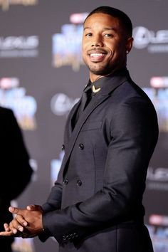 Michael B. Jordan attends the premiere Of Disney and Marvel's 'Black Panther' at Dolby Theatre on January 2018 in Hollywood, California. Michael B Jordan, Vintage Black Glamour, Donald Glover, Bae, Fine Men, Fine Boys, Raining Men, Gorgeous Men, Beautiful People