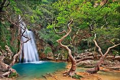 'Waterfall in Neda canyon' by Hercules Milas Arcadia Greece, Places In Greece, Places Of Interest, The Good Place, Places To Go, Scenery, Greek, Explore, Water