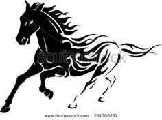 Wild Flaming Stallion Horse