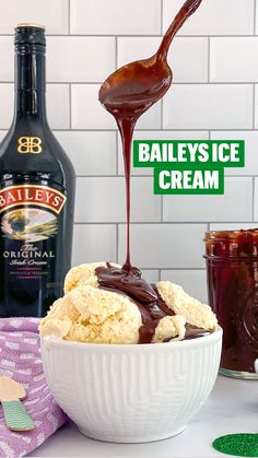 Yummy Treats, Delicious Desserts, Dessert Recipes, Baileys Ice Cream, Frozen Desserts, Frozen Treats, Hot Fudge Sauce, Chocolate Stout, Alcoholic Desserts