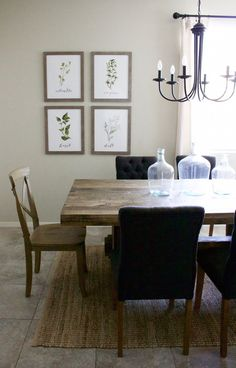 Modern farmhouse dining room & diy shiplap home dining room Dining Room Design, Dining Room Furniture, Dining Rooms, Dining Area, Farmhouse Dining Room Lighting, E Design, Design Ideas, Open Concept, Decoration