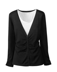 Ruched cardigan from Coldwater Creek