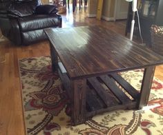 Coffee table from palletts