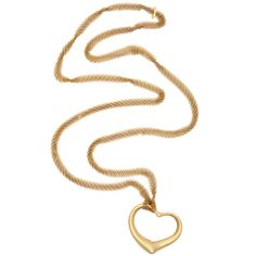 1980's TIFFANY & CO. Paloma Picasso  Gold Mesh Chain And Open Heart