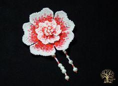 """Схема к цветку """"Коралловый дебют""""   biser.info - всё о бисере и бисерном творчестве"""