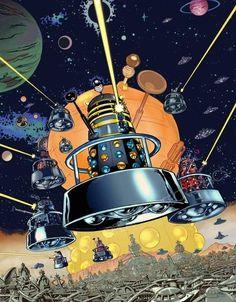 Artist Van Gogh, Doctor Who Art, Dalek, Love Stars, Dr Who, Star Trek, Nerdy, Geek Stuff, Cartoon