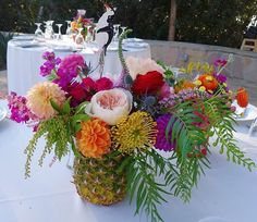 Textures and colors! But smaller arrangements for tables